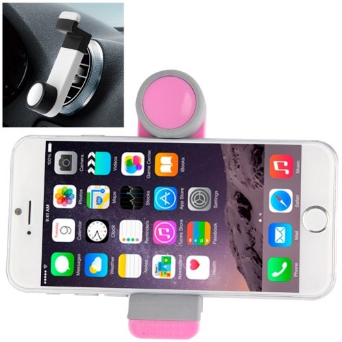 OEM Factory Price Portable Air Vent Car Mount Holder for iPhone 6 /6 Plus / iPhone 5 /5S (Pink+Gray)