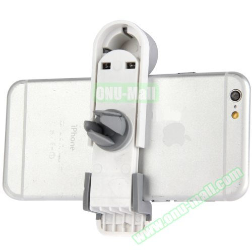 OEM Factory Price Portable Air Vent Car Mount Holder for iPhone 6 /6 Plus / iPhone 5 /5S (White+Gray)