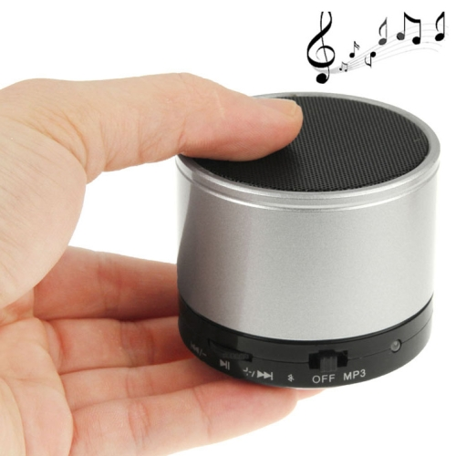 WB-02 Mini Bluetooth Speaker, Built-in Rechargeable Battery, Support Handsfree Call (Silver)