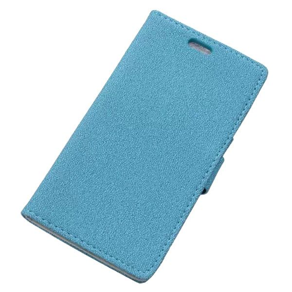 Stone Texture Leather Wallet Case Flip Cover for Nokia Lumia 830 with Card Slots (Blue)