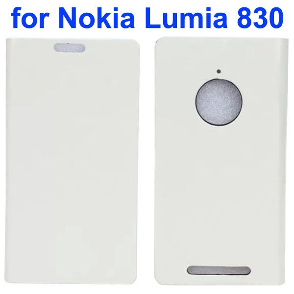 Crystal Texture Mobile Phone Leather Flip Wallet Case Cover for Nokia Lumia 830 (White)