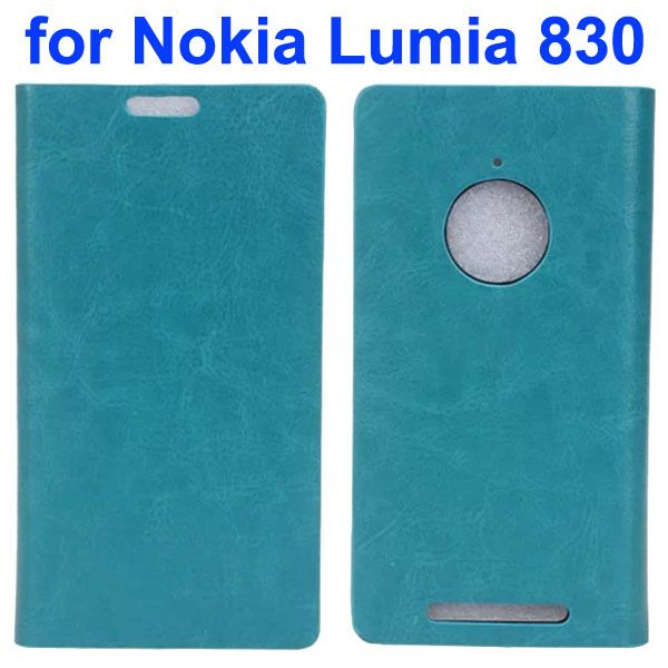 Crystal Texture Mobile Phone Leather Flip Wallet Case Cover for Nokia Lumia 830 (Green)