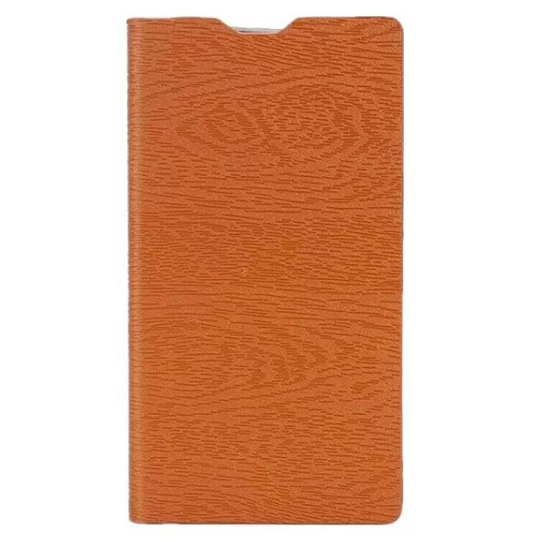New Arrival Wood Texture Flip Leather Wallet Cell Phone Case for Motorola Moto Maxx XT1225 (Brown)