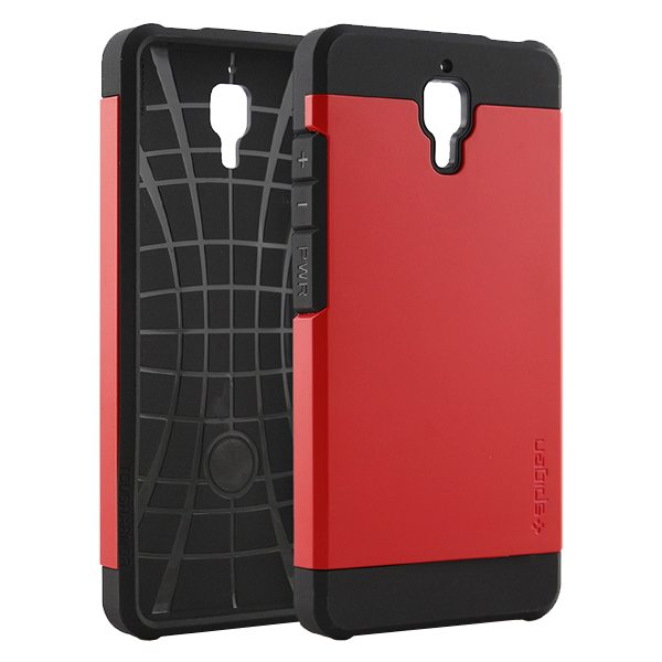 2 in 1 Pattern TPU and Hard PC Protective Hybrid Cover Case for Xiaomi M4 (Red)