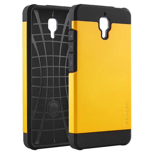 2 in 1 Pattern TPU and Hard PC Protective Hybrid Cover Case for Xiaomi M4 (Yellow)