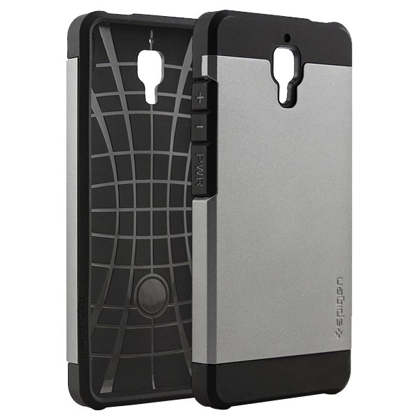 2 in 1 Pattern TPU and Hard PC Protective Hybrid Cover Case for Xiaomi M4 (Gray)
