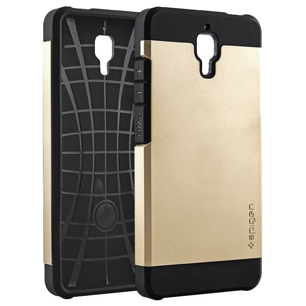 2 in 1 Pattern TPU and Hard PC Protective Hybrid Cover Case for Xiaomi M4 (Gold)