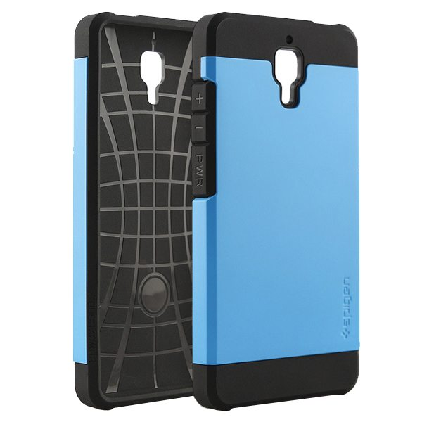 2 in 1 Pattern TPU and Hard PC Protective Hybrid Cover Case for Xiaomi M4 (Blue)