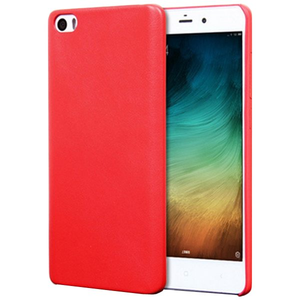 Litchi Texture Durable Protective PU Leather Cover for Xiaomi Note (Red)