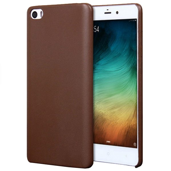 Litchi Texture Durable Protective PU Leather Cover for Xiaomi Note (Brown)