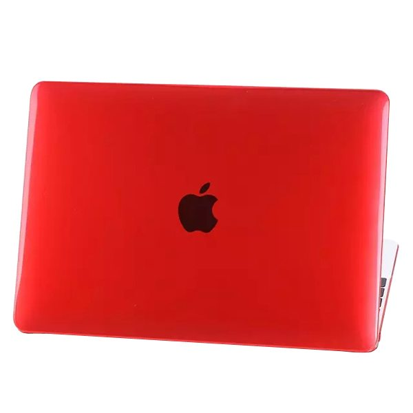 Crystal Hard Shell Rubberized Cover for The new MacBook (Red)