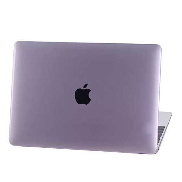 Crystal Hard Shell Rubberized Cover for The new MacBook (Purple)