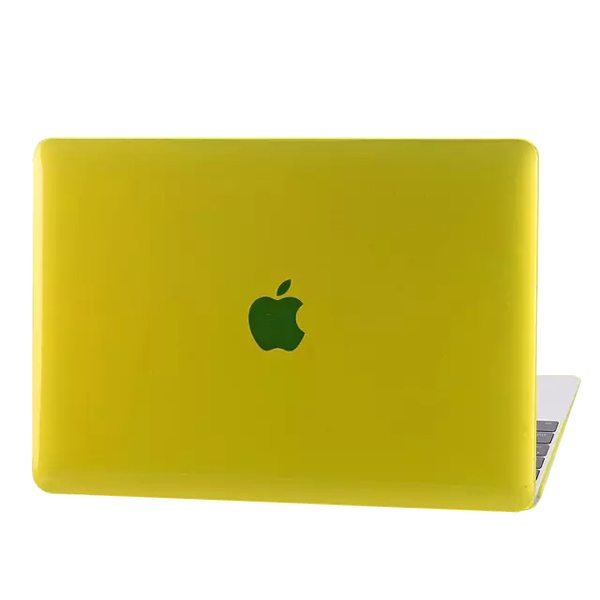Crystal Hard Shell Rubberized Cover for The new MacBook (Yellow)
