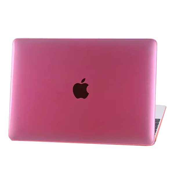 Crystal Hard Shell Rubberized Cover for The new MacBook (Pink)