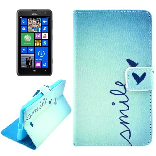 OEM Manufacturer PU Leather Mobile Phone Case Wallet Cover for Nokia Lumia 625 (Flying Butterfly)