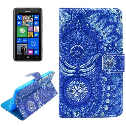 OEM Manufacturer PU Leather Mobile Phone Case Wallet Cover for Nokia Lumia 625 (Abstract)