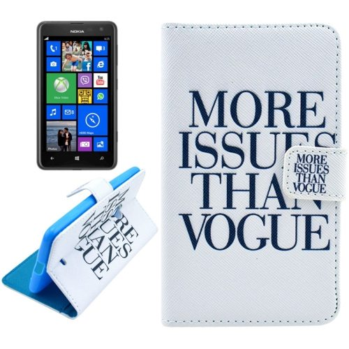 OEM Manufacturer PU Leather Mobile Phone Case Wallet Cover for Nokia Lumia 625 (More Issues Than Vogue)