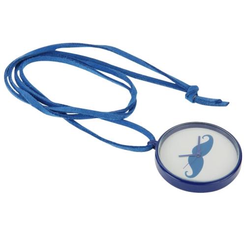 Promotional Gift Creative Effendi Little Mustache Quatz Pocket Watch Necklace Watch (Blue)