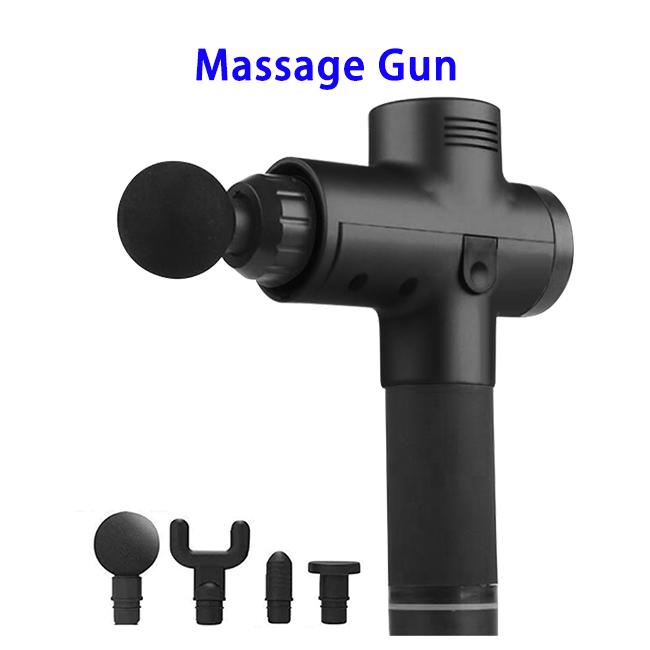 20 Speeds Sport Machine Handheld Vibration Deep Tissue Muscle Massage Gun (Black)