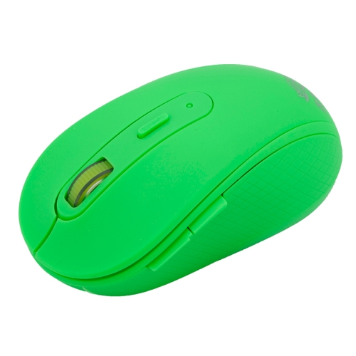 RF-6050 2.4GHz 800 / 1000 / 1200 / 1600 DPI Wireless Silent Gaming Optical Mouse (Green)