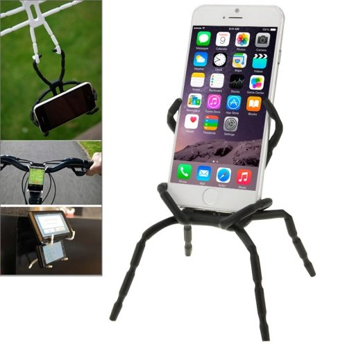Nice Design Flexible Universal Spider Shape Car Grip Mobile Phone Holder (Black)