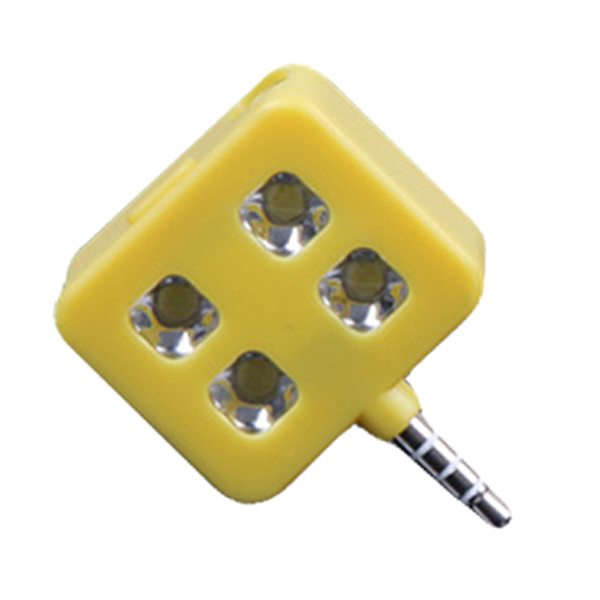 RK06 Portable Night Using Mini Selfie Enhancing LED Flash Light for IOS, Andriod, WP8.0, ect. (Yellow)