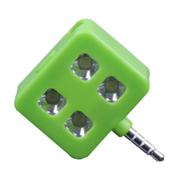RK06 Portable Night Using Mini Selfie Enhancing LED Flash Light for IOS, Andriod, WP8.0, ect. (Green)