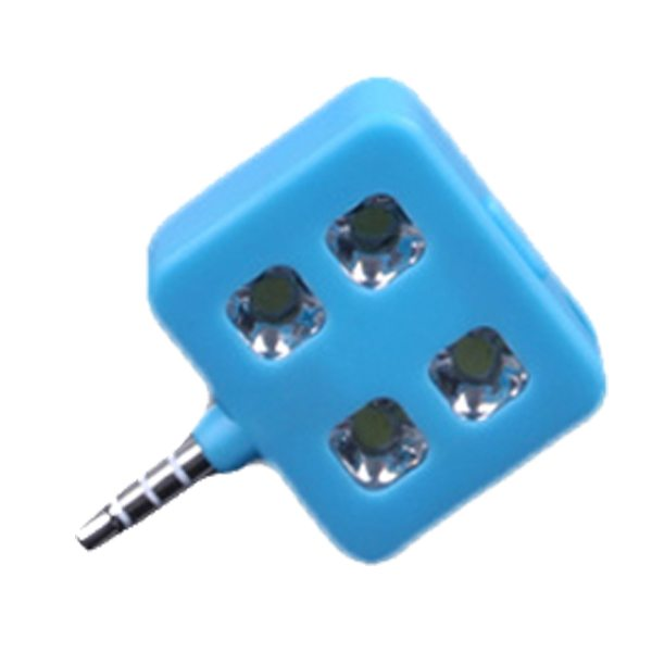 RK06 Portable Night Using Mini Selfie Enhancing LED Flash Light for IOS, Andriod, WP8.0, ect. (Blue)