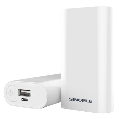 Sinoele SINO 5200mAh High Capacity Portable Rechargeable Power Bank for Smart Mobile Phones (White)