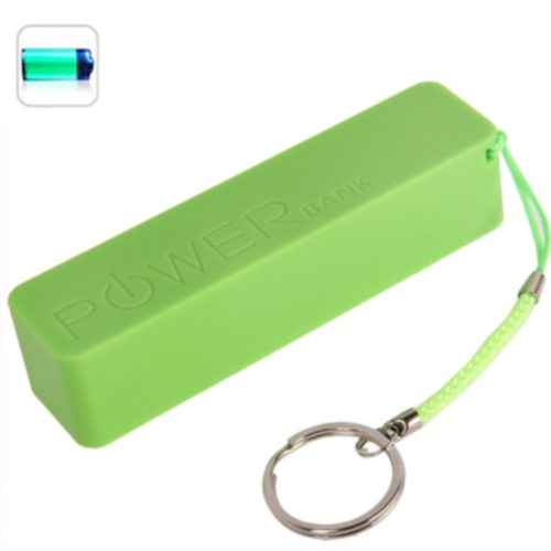 2600mAh Portable Rechargeable Frosted Power Bank for iPhone 6/ 6 Plus/ Samsung S6/ HTC M9/ etc with Fruit Flavor (Green)