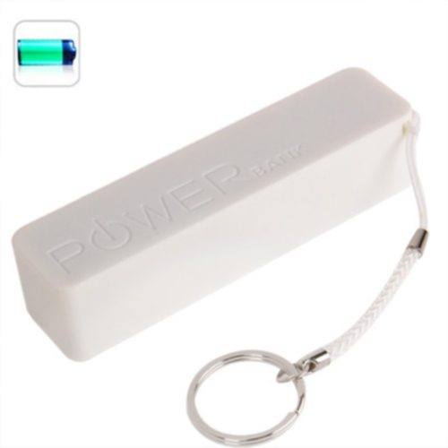 2600mAh Portable Rechargeable Frosted Power Bank for iPhone 6/ 6 Plus/ Samsung S6/ HTC M9/ etc with Fruit Flavor (White)