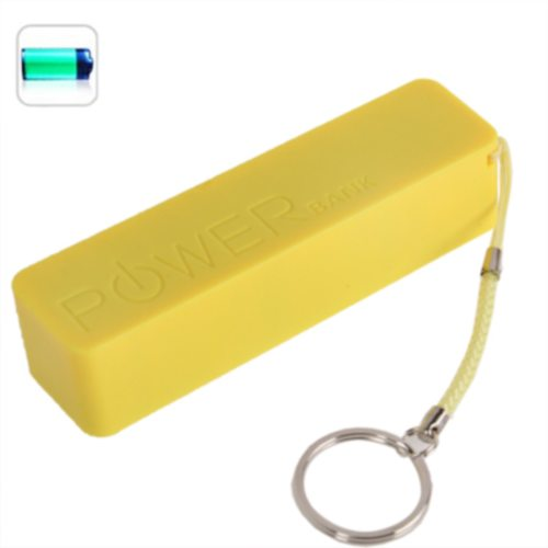 2600mAh Portable Rechargeable Frosted Power Bank for iPhone 6/ 6 Plus/ Samsung S6/ HTC M9/ etc with Fruit Flavor (Yellow)