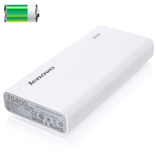 10400mAh Lenovo PA10400 Portable Rechargeable Power Bank for iPhone/ Samsung/ HTC/ LG/ Xiaomi/ Google/ etc (White)