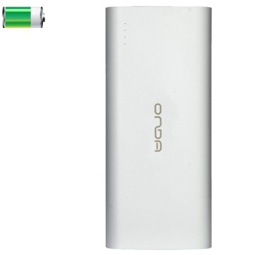 10000mAh ONDA V100 High Capacity Rechargeable USB External Battery Power Bank for Apple and Samsung (Silver)