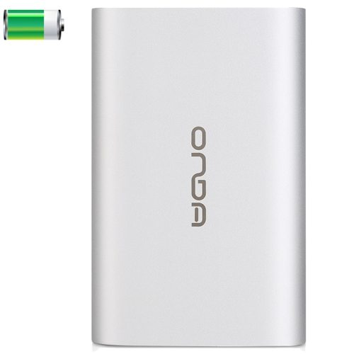 6000mAh ONDA V600 High Capacity Rechargeable USB External Battery Power Bank for Apple and Samsung (Silver)