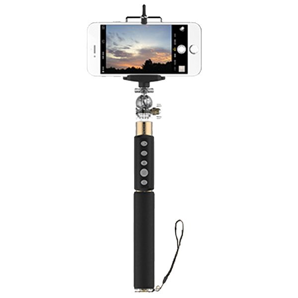 Rock Brand Wireless Bluetooth Mobile Phone Selfie Stick Monopod Compatible with Apple IOS and Andriod