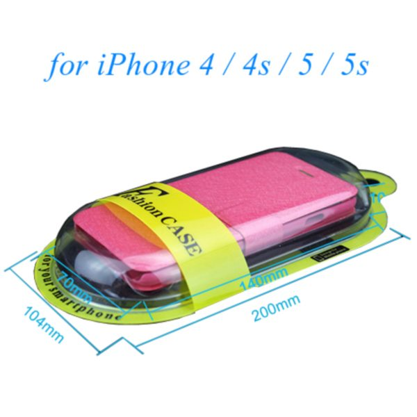 New Arrival PVC Cellphone Leather Case Package Box for iPhone 4/ 4S/ 5/ 5S