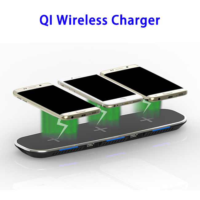 New Trending QI Wireless Charger for iPhone X for iPhone 8 for S8 for S8 Plus for Note 8 (Black)