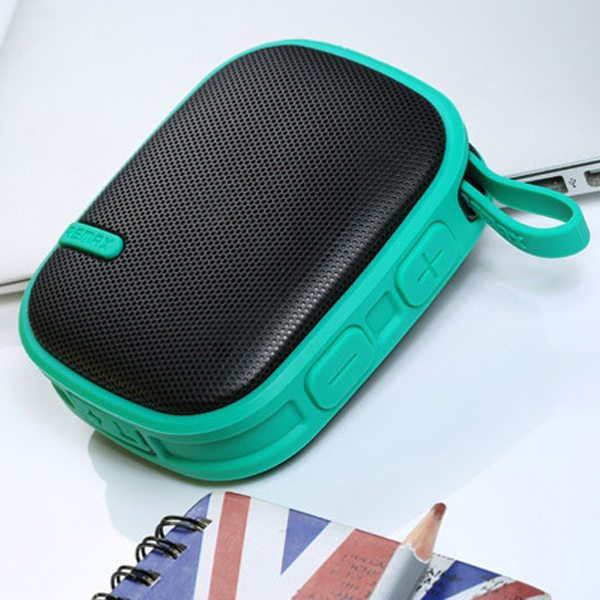 REMAX Creative Outdoor Waterproof Wireless Mini Bluetooth Speaker for Phones, Tablets or Other Devices (Green)