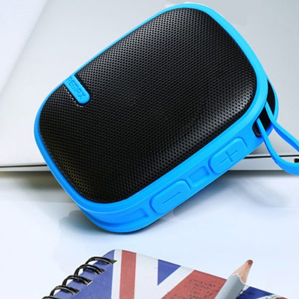 REMAX Creative Outdoor Waterproof Wireless Mini Bluetooth Speaker for Phones, Tablets or Other Devices (Blue)