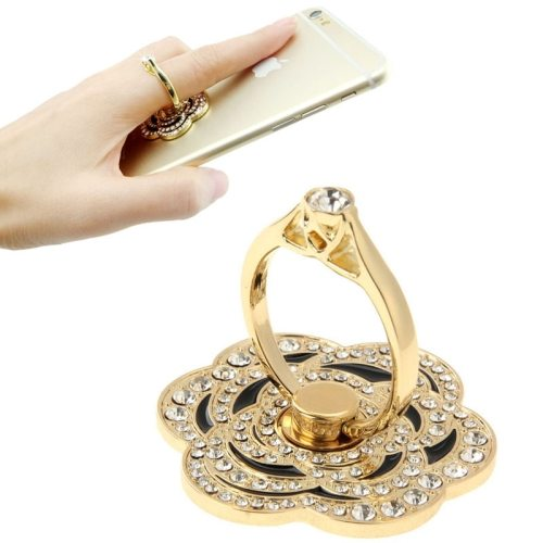VENICEN Universal Rotatable Diamond Encrusted Car Hanging Ring Metal Ring Holder for Mobile Phone