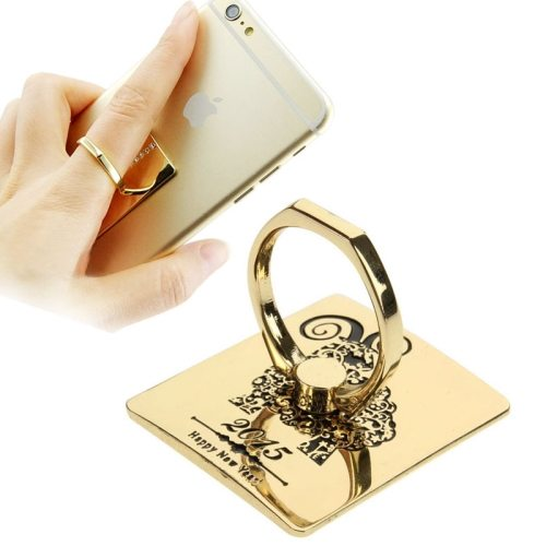Fashion Style VENICEN Universal Rotatable Gold Metal Ring Holder for iPhone / iPad / Samsung / HTC / Nokia / LG Phones