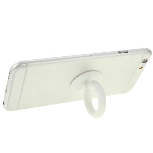 Universal Silicone Ring Phone Holder for iPhone/ iPad/ Samsung/ HTC/ Nokia/ LG Phones (White)