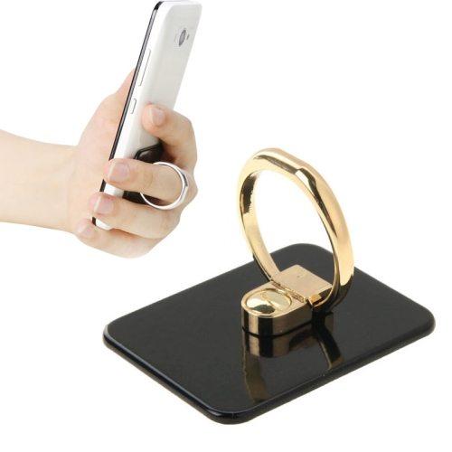 VENICEN Universal Rotatable Encrusted Metal Ring Holder for iPhone/ iPad/ Samsung/ HTC/ Nokia/ LG Phones (Black)