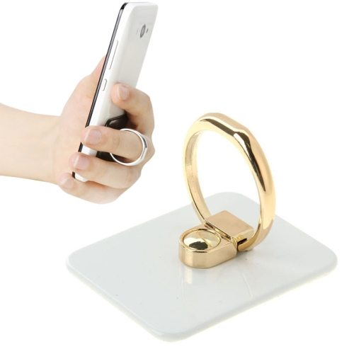 VENICEN Universal Rotatable Encrusted Metal Ring Holder for iPhone/ iPad/ Samsung/ HTC/ Nokia/ LG Phones (White)