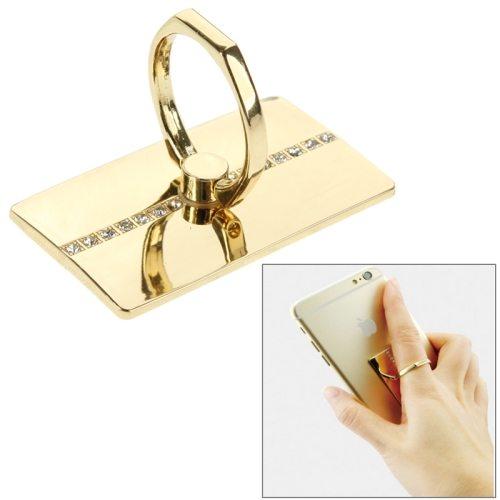 Popular Design VENICEN Universal Rotatable Encrusted Metal Ring Holder for iPhone/ iPad/ Samsung/ HTC/ Nokia/ LG Phones(Golden)