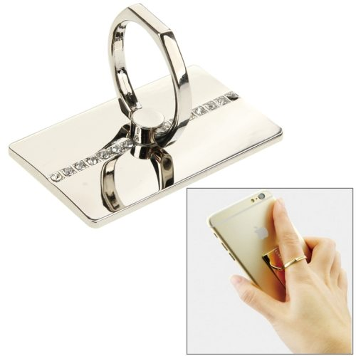 Popular Design VENICEN Universal Rotatable Encrusted Metal Ring Holder for iPhone/ iPad/ Samsung/ HTC/ Nokia/ LG Phones(Silver)