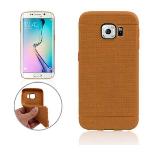 Honeycomb Surface TPU Protective Case for Samsung Galaxy S6 Edge (Brown)