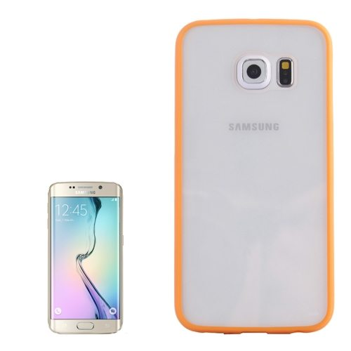 Anti-scratch Acrylic Material Transparent Back Shell Protective Case for Samsung Galaxy S6 Edge(Orange)