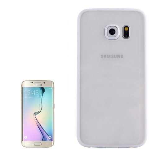 Anti-scratch Acrylic Material Transparent Back Shell Protective Case for Samsung Galaxy S6 Edge(White)
